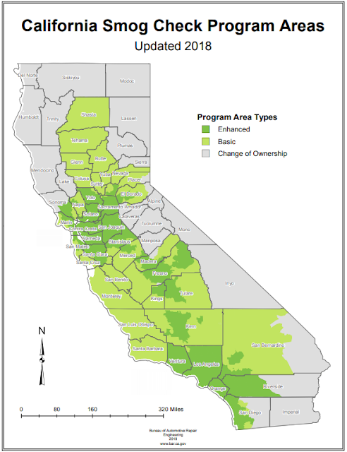 California Smog Check Program Areas