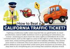 How To Beat a Traffic Ticket in California