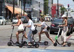 Scooters flood the streets of California
