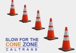 California Cone Zone Driving