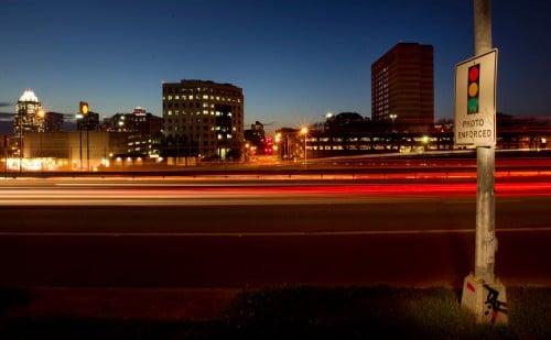 Officer issuing Red Light Violation (Camera) in California