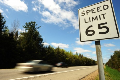 Officer issuing General Speed Law in California