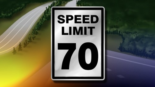 Officer issuing Prima Facie Speed Limit in California