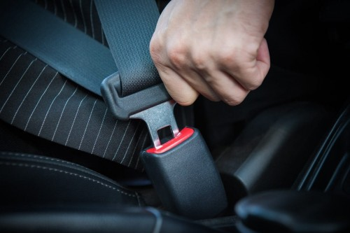 Officer issuing Seat Belt Violation in California