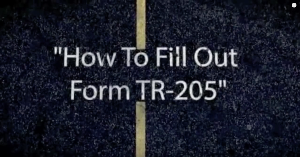Ticket Snipers How To Fill Out Form Tr 205 Request For