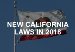 California Driving Laws Changes For 2018